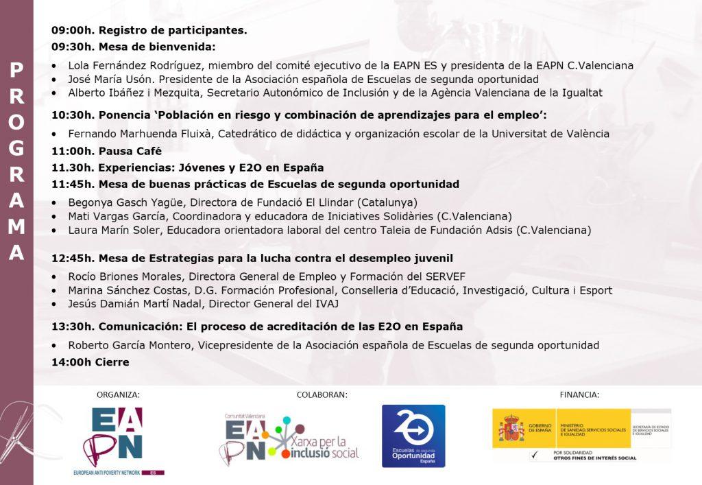 Programa Seminario Empleo Juvenil y FPE_Valencia